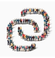 chain people sign vector image vector image