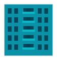 city building icon flat style vector image vector image