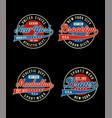college sport set t-shirt vector image vector image