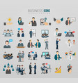 communication business team icon set vector image vector image