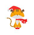 cute good tiger symbol of the new year tiger cub vector image vector image