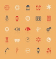 Design time and direction line icons flat color vector image vector image