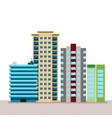 flat business city urban landscape for decoration vector image vector image