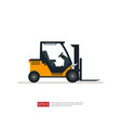 forklift truck warehouse fork loader icon vector image vector image