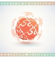 globe made of puzzle piecies business vector image