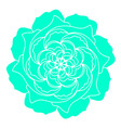 green rose flower icon organic plant wedding vector image vector image