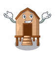grinning chiken coop isolated on a mascot vector image vector image