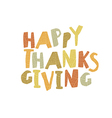 Happy Thanksgiving logotype Leaf Cut Letters For