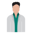 isolated male medic avatar vector image