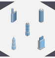 isometric construction set of building exterior vector image vector image