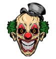 jester skull wearing magic hat vector image