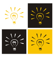 Light bulb icon set vector image