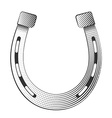 Metal horseshoe vector image