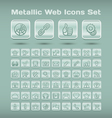 Metallic web icons set vector image vector image