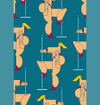 night club pattern seamless striptease stripper vector image vector image