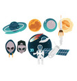 outer space theme objects set with different vector image vector image