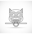 Owl outline icon vector image vector image