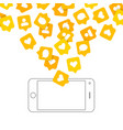 phone and push notifications vector image vector image