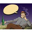 pop art smoking man