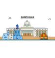puerto rico line skyline vector image