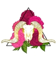 Ram skull occult symbol vector image
