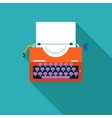 Retro Vintage Creativity Symbol Typewriter and vector image