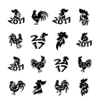 Rooster logo icons vector image vector image
