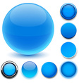 Round blue icons vector image vector image