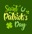 saint patricks day greeting poster vector image vector image