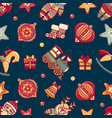 seamless pattern christmas style vector image vector image