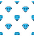 seamless pattern with blue diamonds vector image vector image