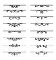 set decorative florish elements vector image