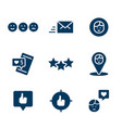 set icon social networks in flat style vector image
