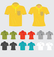 set of templates colored polo shirts for man and vector image vector image