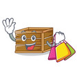 shopping crate character cartoon style vector image vector image