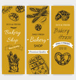 sketch - bakery bread loaf vector image vector image