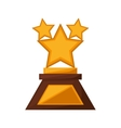 stars trophy awards golden vector image vector image