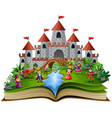 story book with royal story cartoon vector image