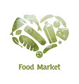 stylish food market poster vector image vector image