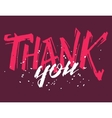 Thank you grunge calligraphy vector image