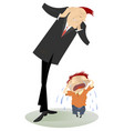 upset man and crying child vector image