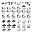 weather icons on a White background vector image