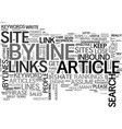 Why a byline should be effective text word cloud