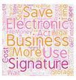 Why Should I Use Electronic Signatures text vector image vector image