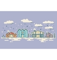 Winter Cityscape vintage Christmas card vector image vector image