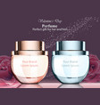 women and men perfume bottle fragrance realistic vector image vector image