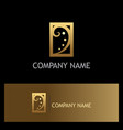 swirl luxury gold company logo vector image