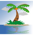 coconut tree on a small island vector image