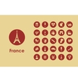 Set of France simple icons vector image