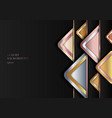 abstract modern luxury style geometric golden vector image vector image